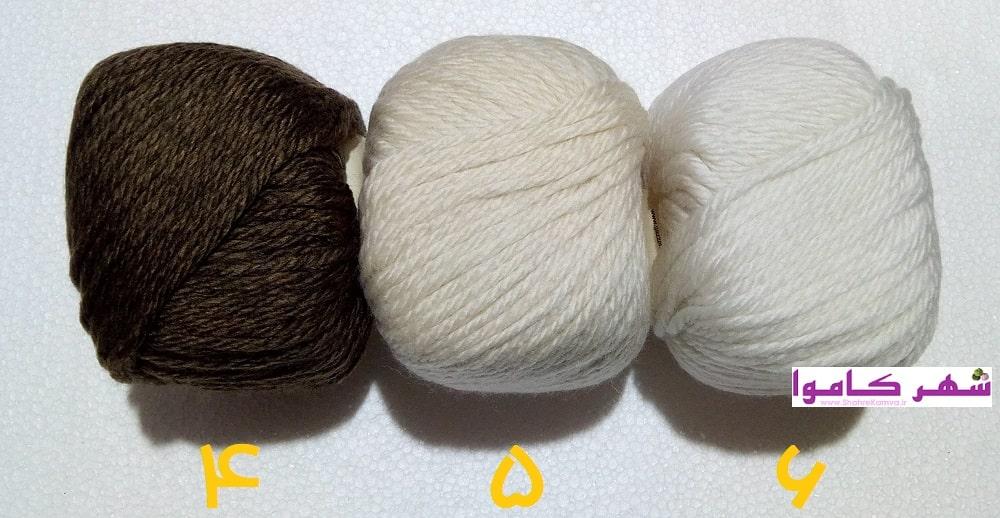 رنگ بندی کاموای غزال وایکینگ