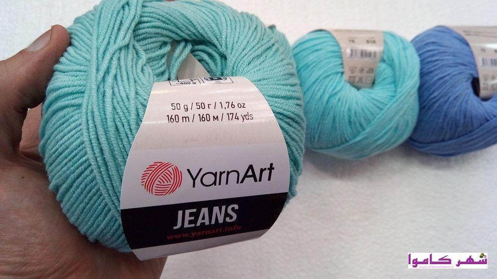 رنگ بندی کاموای کتان یارنآرت جینز